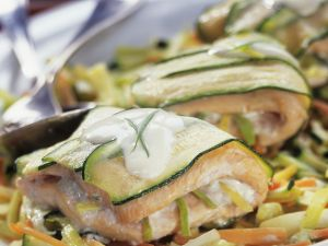 Courgette and Salmon Parcels recipe