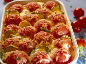 Courgette, Tomato and Potato Bake recipe
