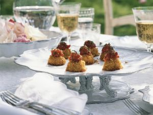 Crab Cakes with Tomato-Ginger Chutney recipe