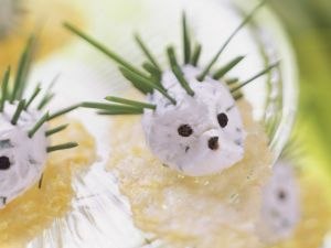 Cream Cheese Dip Hedgehog with Parmesan Chips recipe