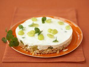 Cream Grape Cake with Cornflake Crust recipe