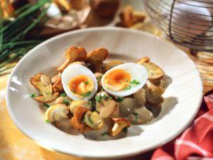 Creamy Mushroom Pan with Eggs recipe