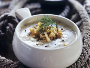 Mixed fish creamy soup recipe eat smarter usa for Creamy fish soup recipe