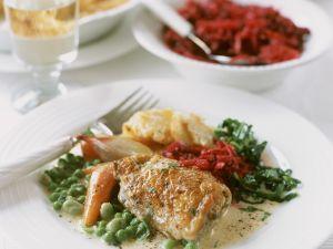 Creamy Vegetables with Chicken recipe