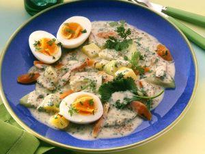 Creamy Vegetables with Eggs recipe