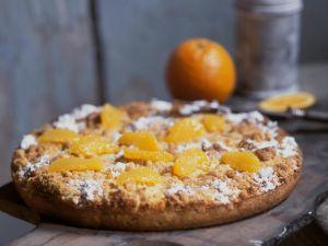 Crumb Cake with Oranges recipe