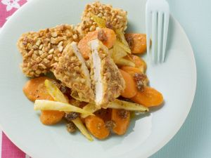 Crusted Tofu with Carrot Salad recipe