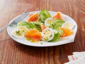 Cucumber, Egg and Smoked Salmon Salad recipe