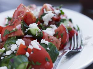 Cucumber Salad with Tomatoes and Goat Cheese recipe