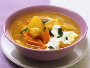 Curried Chicken and Potato Soup recipe