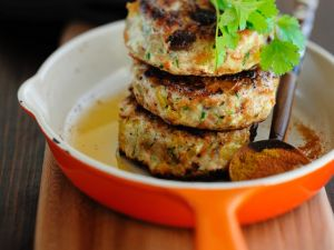 Curried Turkey and Herb Burgers with Harissa recipe