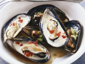 Curry Coconut Mussels with Soy Butter recipe