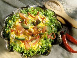 Curry Rice Salad with Avocado and Grapefruit recipe