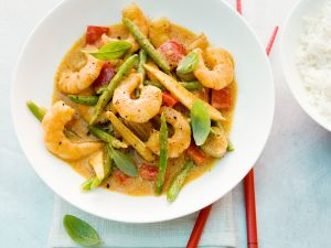 Curry with Shrimp, Bell Peppers and Green Beans recipe