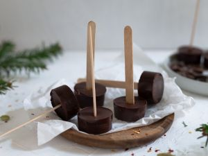 Dark Hot Chocolate on a Stick recipe