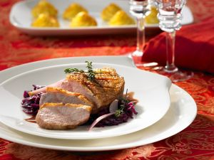 Duck Breast with Braised Red Cabbage recipe