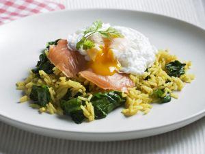 Egg and Fish Breakfast Rice recipe
