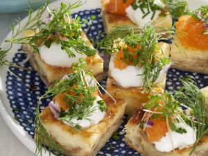 Egg and Gruyere Squares with Roe recipe