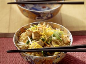 Egg Noodles with Vegetables and Tofu recipe