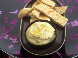Eggplant Dip with Pita recipe