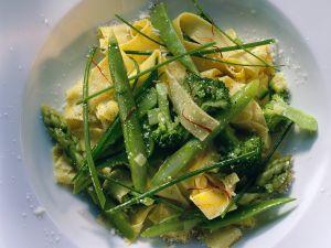 Fettuccine with Asparagus and Broccoli recipe