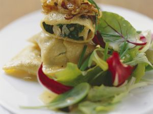 Filled Pasta with Spinach and Porcini Mushroom Stuffing recipe
