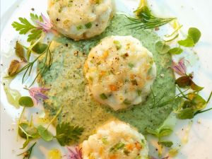 Fish Cakes with Herb Cream recipe