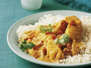 Fish Curry with Coconut Milk and Basmati Rice recipe