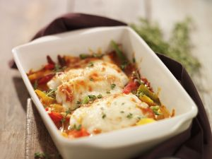 Veggie and White Fish Gratin recipe