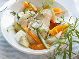 Fish on Vegetables with Fennel and Tarragon recipe