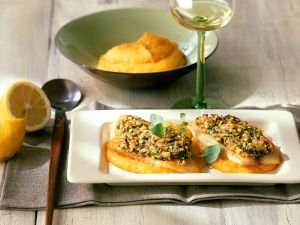 Fish with Vegetable Puree recipe