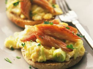 Flaked Kippers and Soft Egg Breakfast recipe