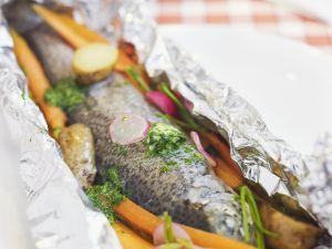 Foil-baked Whole Trout recipe