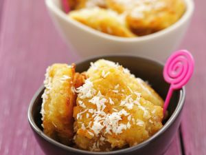 Fried Bananas with Coconut Crust recipe