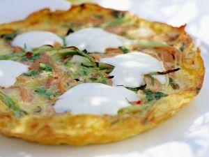 Frittata with Smoked Salmon and Mascarpone recipe