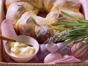 Frosted Rosemary Bread Wreath recipe