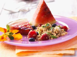 Fruity Couscous Salad with Grilled Watermelon recipe