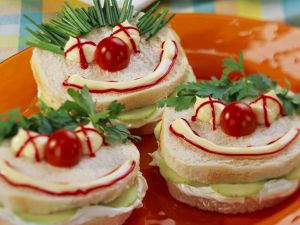 Funny Face Cucumber Sandwiches recipe