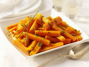 Glazed Carrots with Chives recipe