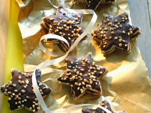 Gluten Free Chocolate Nut Star Cookies recipe