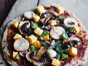 Celiac-friendly Veggie Flatbread recipe
