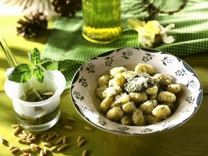 Gnocchi with Basil Pesto recipe