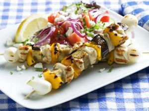 Greek Chicken Skewers recipe