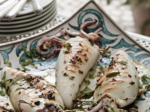 Greek-style Squid with Stuffing recipe