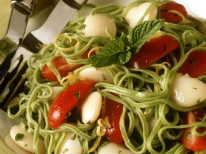Green Pasta with White Beans recipe