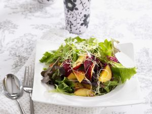 Green Salad with Nectarines and Sprouts recipe