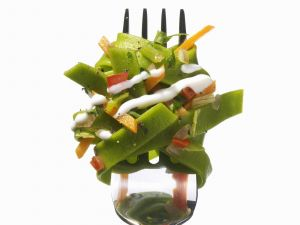 Green Tagiatelle with Vegetable Sauce recipe