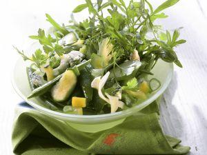 Green Winter Salad with Broccoli, Zucchini and Arugula recipe