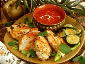 Grilled Chicken and Zucchini recipe