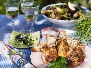 Grilled Chicken Legs with Barbecue Sauce recipe